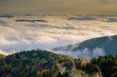 Poster featuring the photograph Cloud Valley by Serge Skiba
