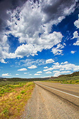 Clouds And Roads Poster by Kunal Mehra