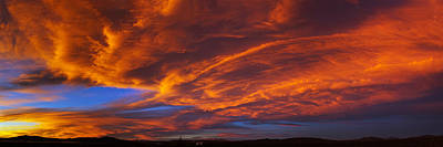 Clouds In The Sky At Sunset, Taos, Taos Poster by Panoramic Images