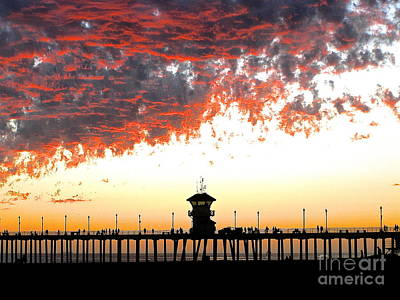 Poster featuring the photograph Clouds On Fire by Margie Amberge