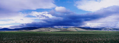 Clouds Over A Hill Range, Montana, Usa Poster