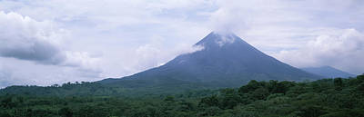 Clouds Over A Mountain Peak, Arenal Poster