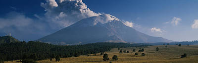 Clouds Over A Mountain, Popocatepetl Poster