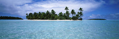 Clouds Over An Island, Aitutaki, Cook Poster by Panoramic Images
