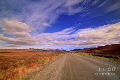 Clouds Over Fall Tundra  Poster by Yva Momatiuk John Eastcott