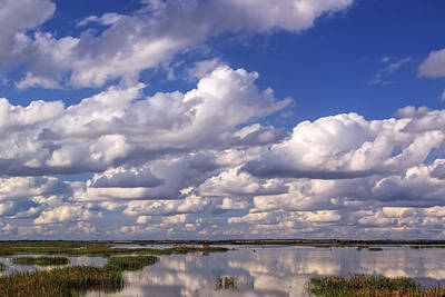 Clouds Over Cheyenne Bottoms Poster