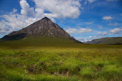 Clouds Over Etive Mor Poster by Niall McWilliam