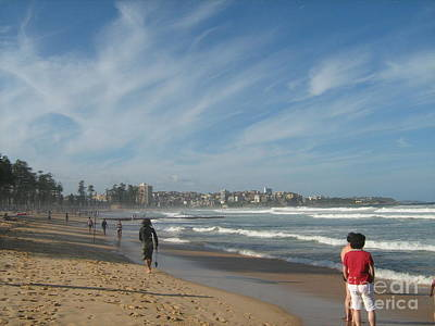 Poster featuring the photograph Clouds Over Manly Beach by Leanne Seymour
