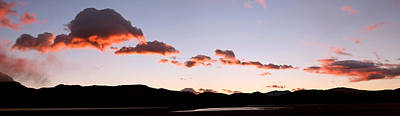 Clouds Over Mountains At Sunrise, Lago Poster