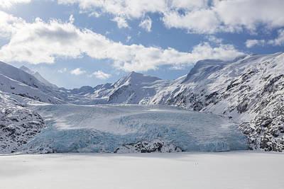 Clouds Over Portage Glacier Poster