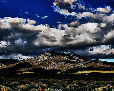 Clouds Over Taos Poster