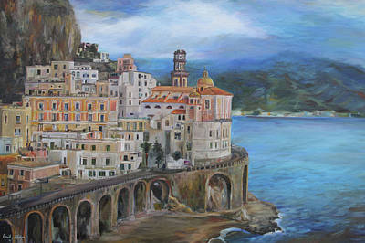 Clouds Over The Amalfi Coast Poster