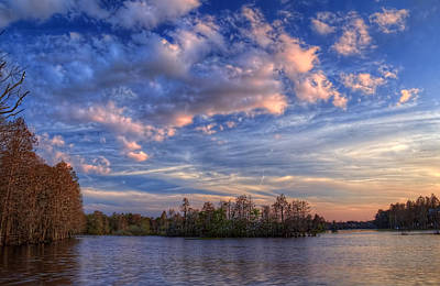 Clouds Over The River Poster by Marvin Spates