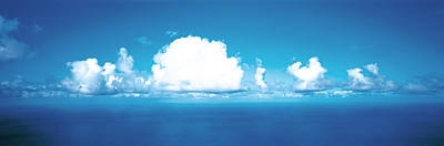 Clouds Over Water Poster
