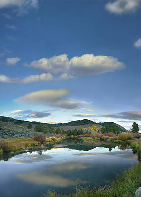 Clouds Reflected In Salmon River Idaho Poster by Tim Fitzharris