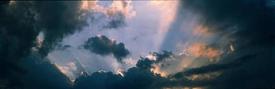 Clouds With God Rays Poster