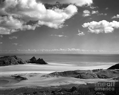 Cloudscape At Three Cliffs Poster
