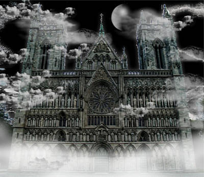 Poster featuring the photograph Cloudy Cathedral by Digital Art Cafe