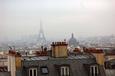 Cloudy Day In Paris Poster by Peter Cassidy