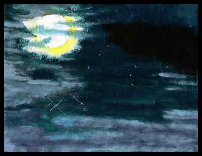 Cloudy Night Sky Poster by Shawn Dall