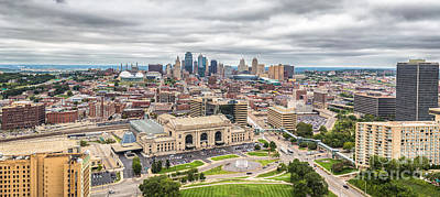 Cloudy Sky Over Kansas City Poster