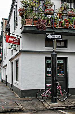 Clover Grill On Bourbon Street Poster by Lynn Jordan