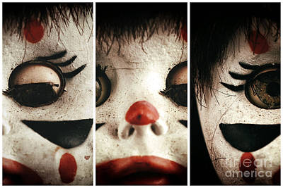 Clown Eye Panels Poster