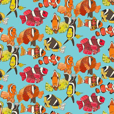 Clown Fish Blue Poster
