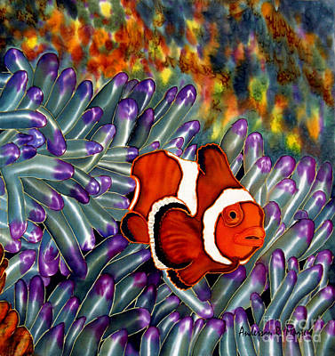 Clown Fish In Hiding Poster by Anderson R Moore
