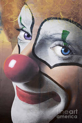 Clown Mural Poster by Bob Christopher