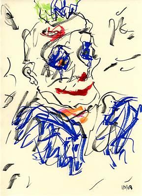 Clown Thug II Poster by Rachel Scott