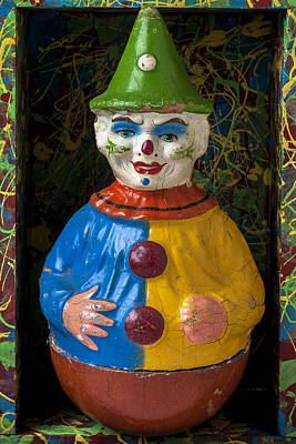 Clown Toy In Box Poster by Garry Gay