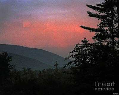 Clucks West Ossipee Mountain Sundown Poster