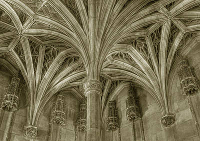 Cluny Museum Ceiling Detail Poster