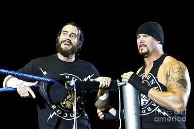 Cm Punk And Luke Gallows Poster by Wrestling Photos