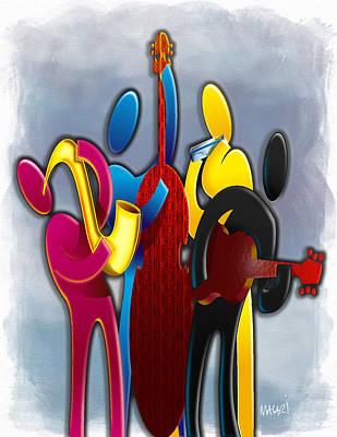 Cmyk Jazz Poster by Mario Macari