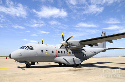 Cn-235 Transport Aircraft Poster by Riccardo Niccoli