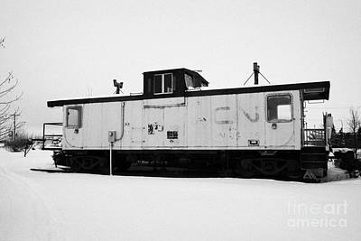 Cn Caboose At Cn Trackside Gardens Used As A Community Project Kamsack Saskatchewan Canada Poster by Joe Fox