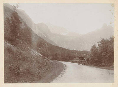 Coach On A Road In A Mountain Landscape Norway Poster