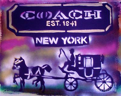 Coach Street Art Poster by Tony B Conscious