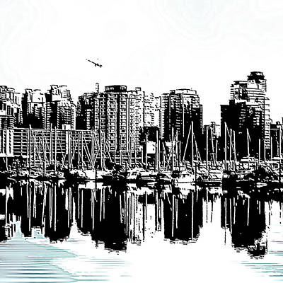Vancouver Canada Coal Harbour Centre Panel Poster