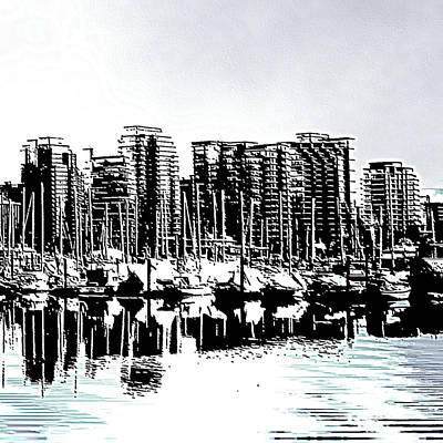 Vancouver Canada Coal Harbour Right Panel Poster