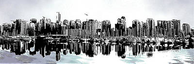 Coal Harbour Vancouver Panorama Poster by Patricia Keith