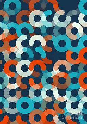 Coast Geometric Circle Pattern Poster by Frank Ramspott