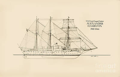 Coast Guard Cutter Alexander Hamilton Poster by Jerry McElroy - Public Domain Image