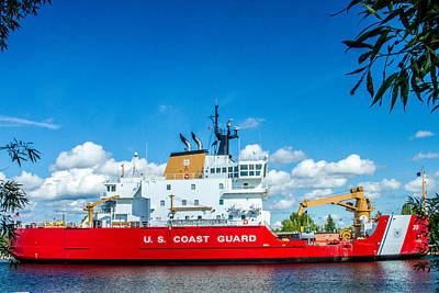 Coast Guard Cutter Mackinaw Poster by Bill Gallagher
