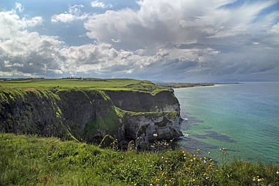 Coastal Cliffs Antrim Ireland Poster by Betsy Knapp