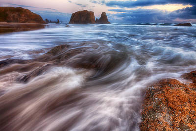 Coastal Flow Poster by Darren  White