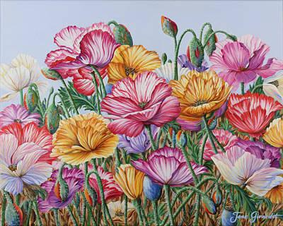 Coastal Poppies Poster by Jane Girardot