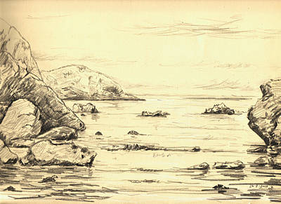 Coastal Scene Cuerno Poster